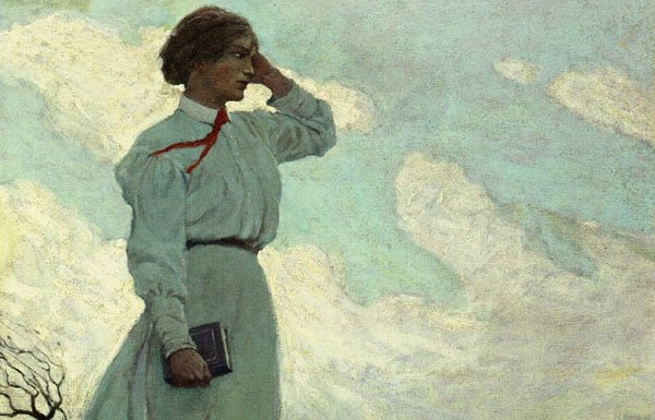Photo of N.C. Wyeth painting