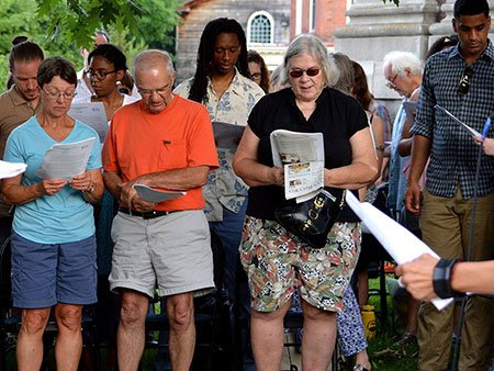 Image from Montpelier Reading Frederick Douglass event