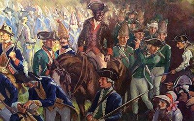 Image of black soldier on horseback