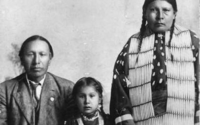 Black Elk with his wife and family