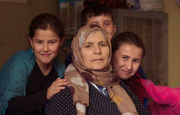 Four Kurdish refugee women