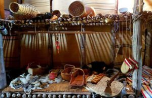 Native American materials on shelves