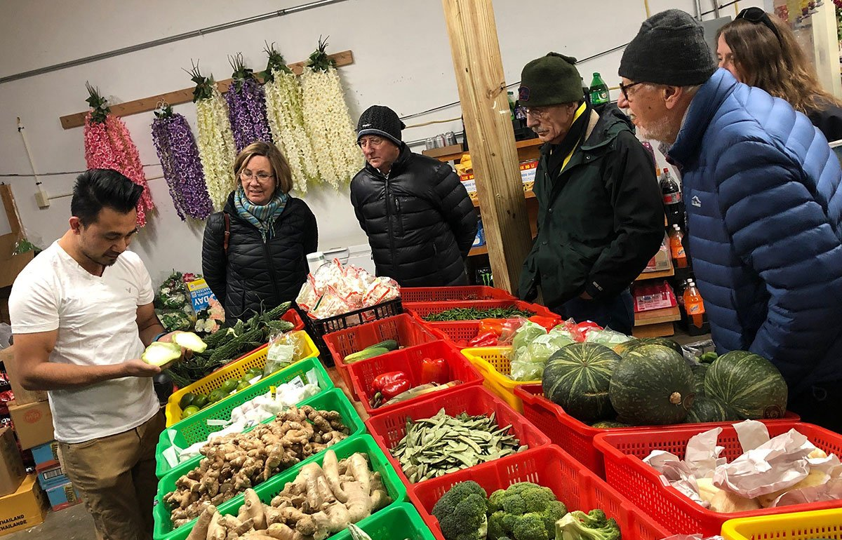 Lapka at Asian Market showing vegetables