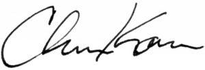 Christopher Kaufman Ilstrup signature