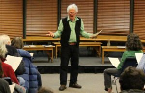 Peter Gould leading a workshop in Montpelier