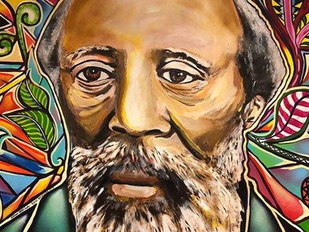 Mural of Martin Freeman