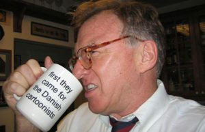 Cartoonist Jeff Danziger with mug