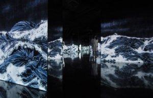 Black Waves by teamLab, 2016
