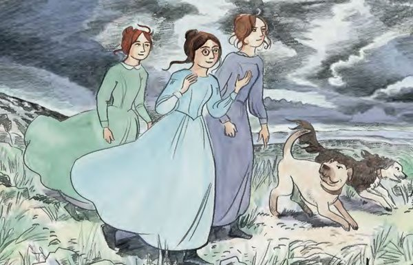 Glynnis Fawkes drawing of the Bronte sisters