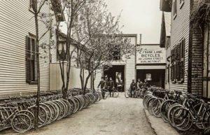 Frank Lane Bicycles in Burlington, 1901