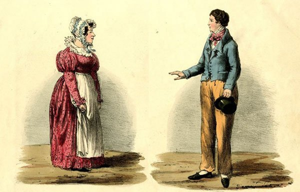 "Drawing of ""the female husband"" from the 1800s"