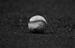 Baseball on infield dirt
