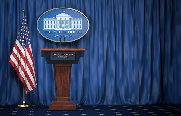 Podium at the White House