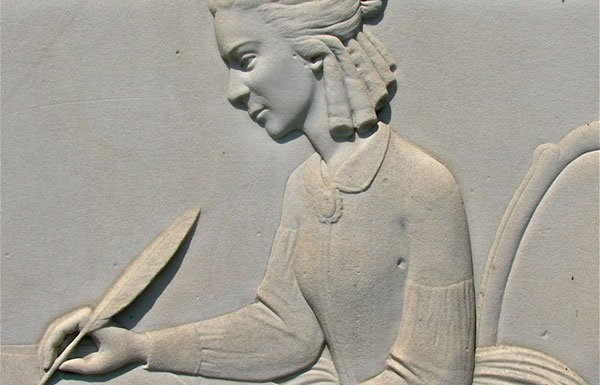 Emma Willard stone carving