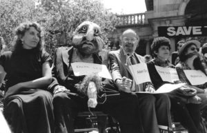 Allan Ginsberg with puppet, by Dona Ann McAdams
