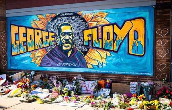 George Floyd memorial wall in Minneapolis