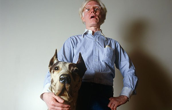 Andy Warhol with Great Dane