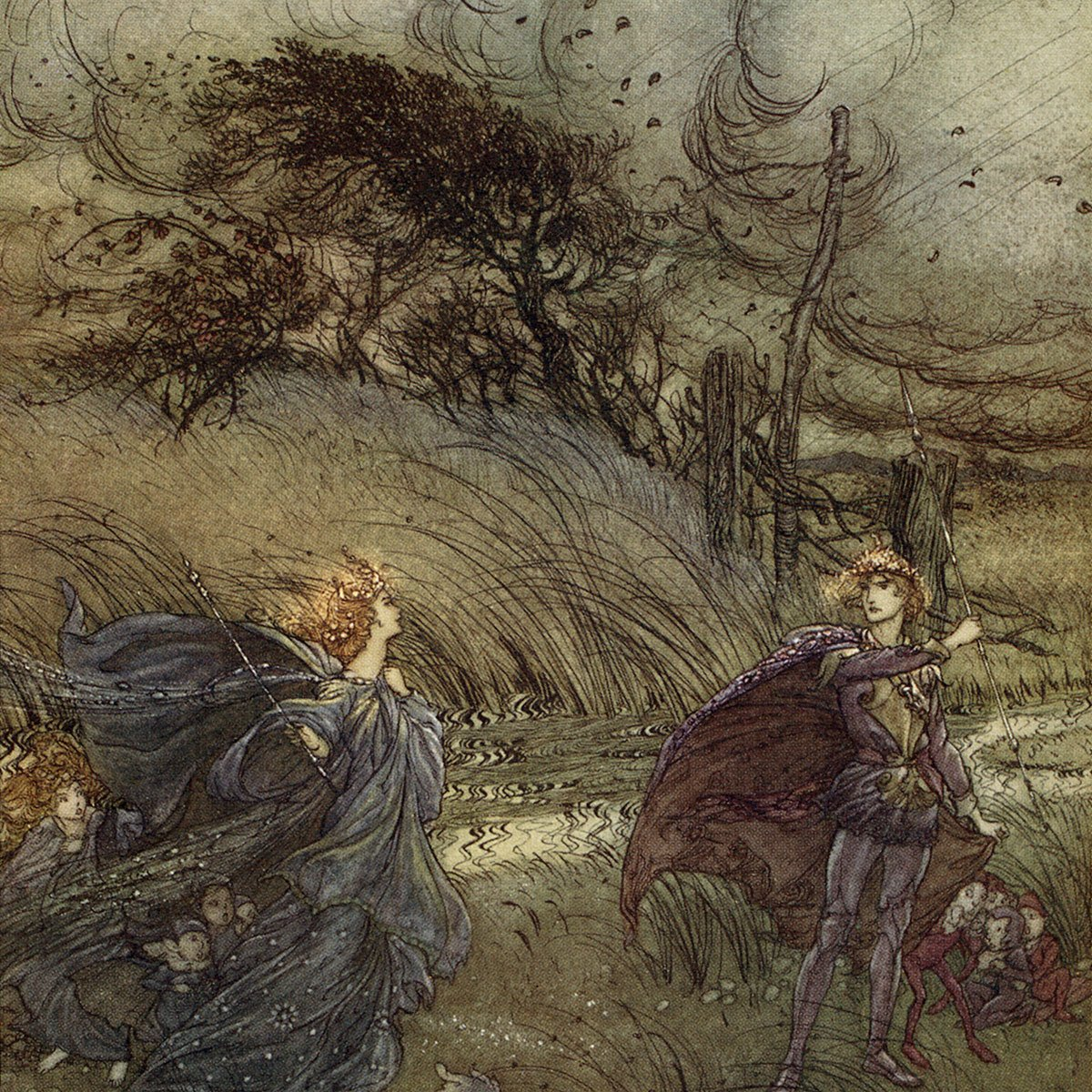 A Midsummer Night's Dream. Illustration by Arthur Rackham (1867 - 1939) to the play by William Shakespeare.