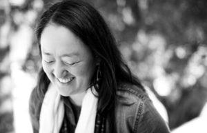 Black and white photo of poet Sarah Audsley