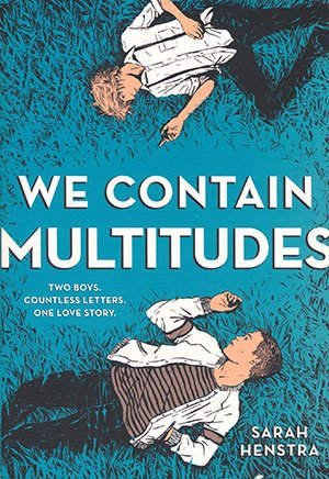 We Contain Multitudes book cover: two boys on grass against a blue background