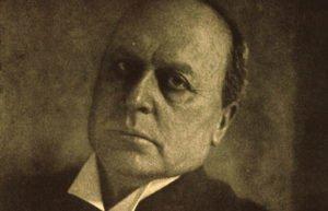 Sepia tone portrait of the author Henry James
