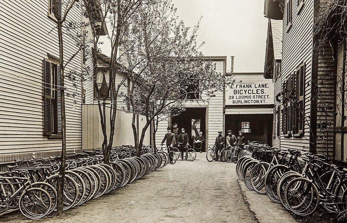 Bicyble Shop in Burlington Vermont in 1901