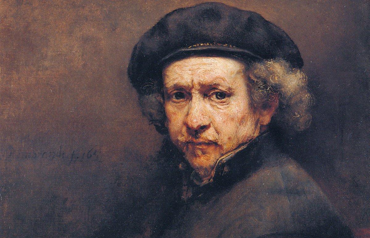 Rembrandt self-portrait painting