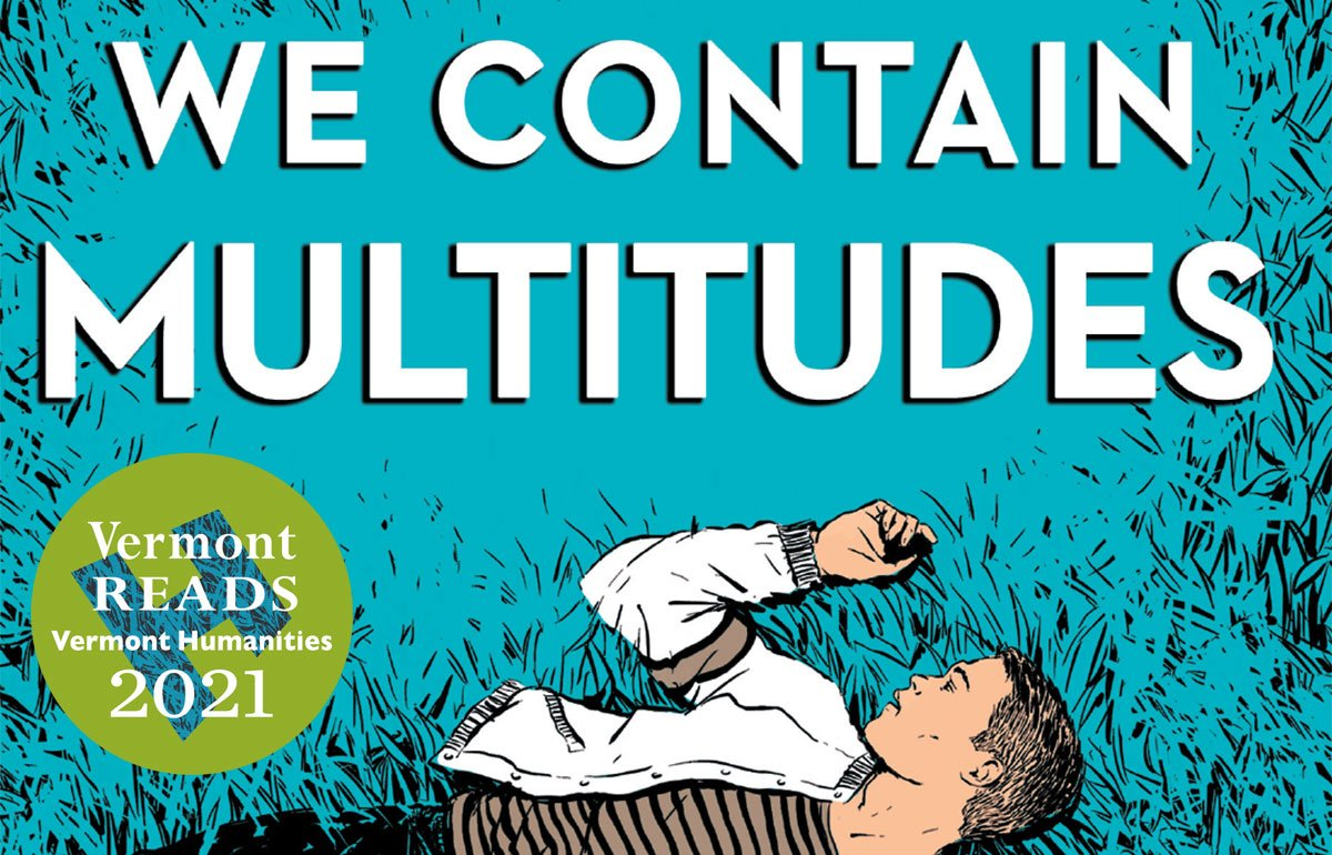We Contain Multitudes book with Vermont Reads logo