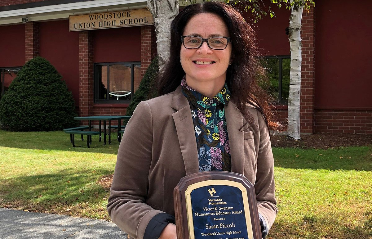 Woodstock Union High School Library Specialist Susan Piccoli